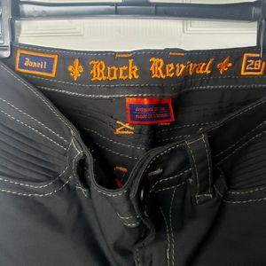 Rock Revival Black Skinny Janeil Moto Jeans 28